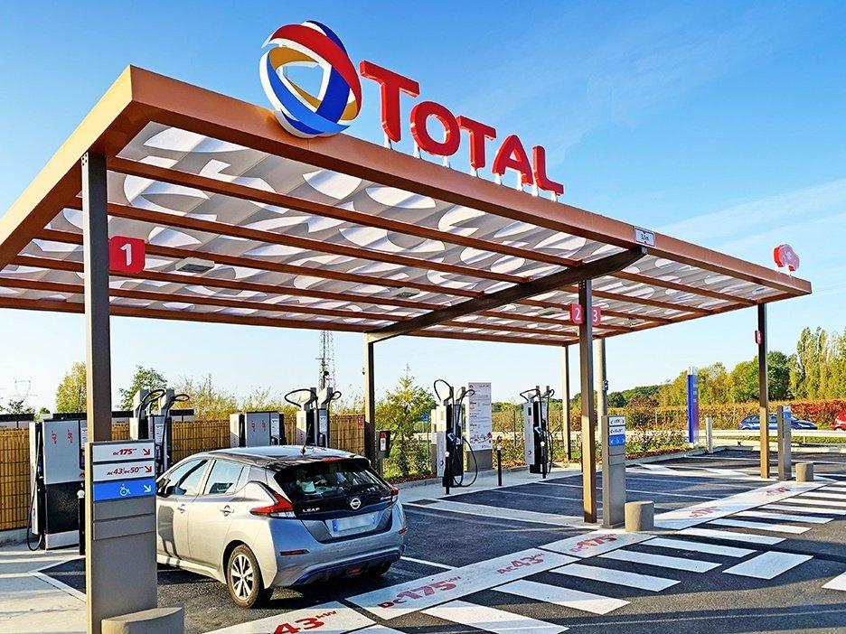Station de recharge Total