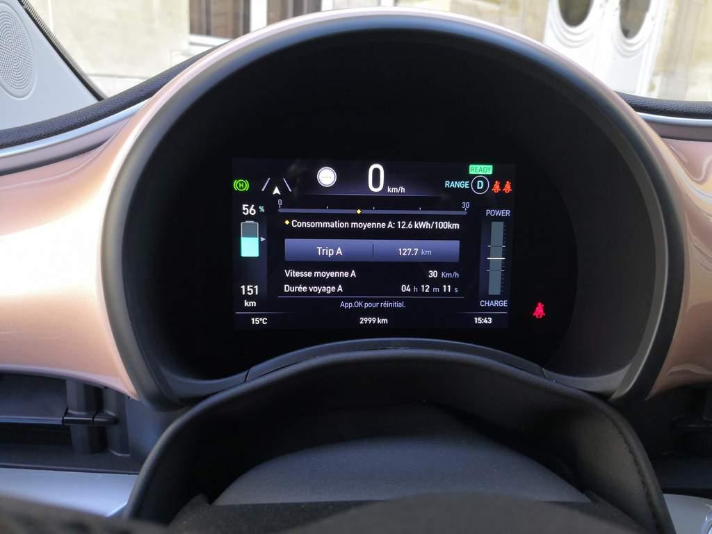 Fiat 500e électrique - consommation
