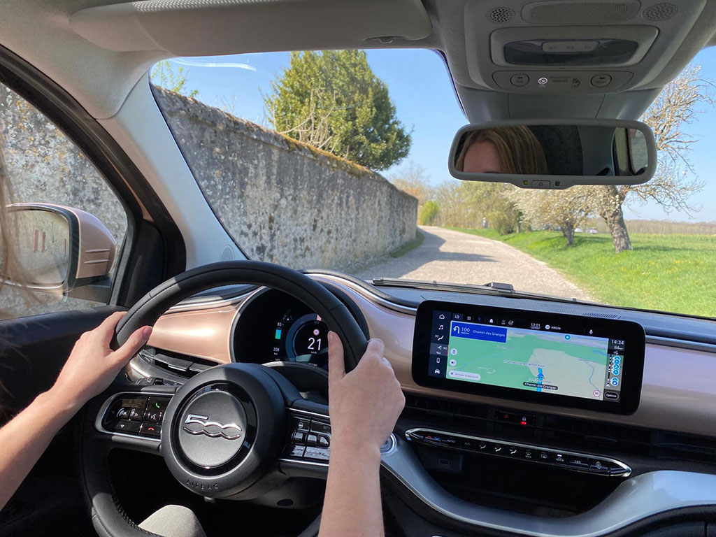 Fiat 500e électrique - au volant