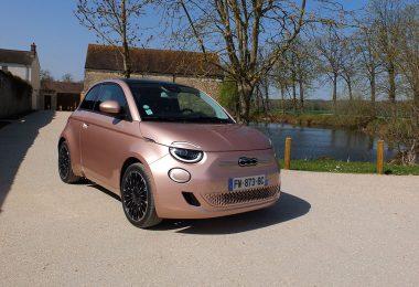 Fiat 500e électrique - Berline Rose Gold