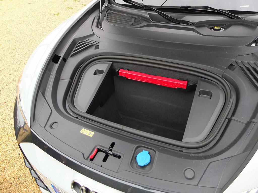 Essai Audi e-tron GT quattro - coffre avant
