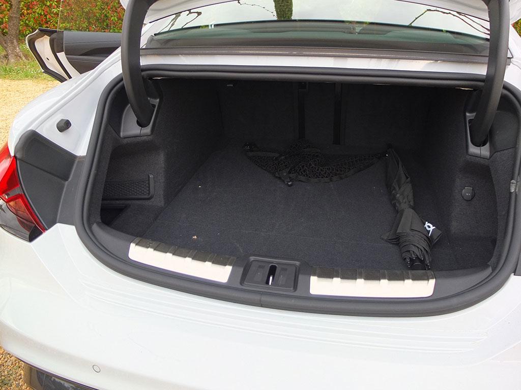 Essai Audi e-tron GT quattro - coffre arrière